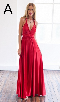 Sexy A-line Sleeveless Red Detached Prom Dress Floor-length_5