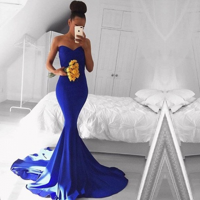 Elegant Sweetheart Mermaid Royal Blue 2020 Prom Dress Floor Length On Sale BA8046_3