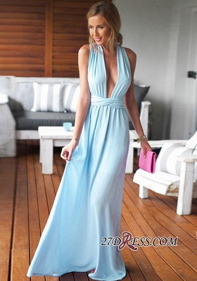 Sleeveless Floor-Length Long Criss-Cross Beautiful Prom Dress BA6970_3