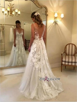 V-Neck Princess Wedding Dresses | 2020 Bridal Gowns With Appliques_2