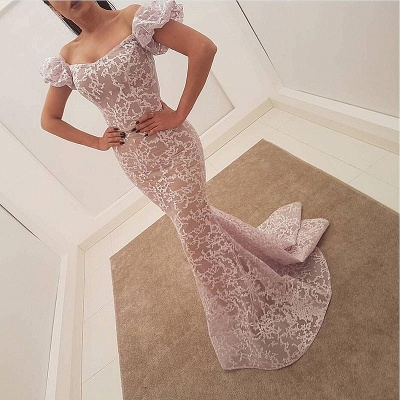 Gorgeous Bubble Sleeve Evening Dress | 2020 Mermaid Sequins Prom Party Dress_3