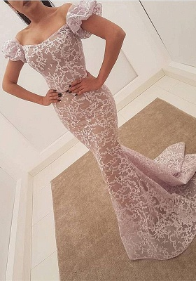 Gorgeous Bubble Sleeve Evening Dress | 2020 Mermaid Sequins Prom Party Dress_1