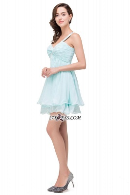 Elegant One Shoulder Chiffon Short Homecoming Dress_4