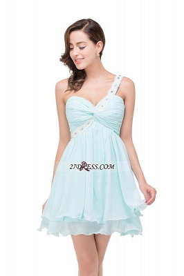 Elegant One Shoulder Chiffon Short Homecoming Dress_5