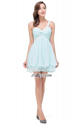 Elegant One Shoulder Chiffon Short Homecoming Dress_6
