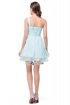 Elegant One Shoulder Chiffon Short Homecoming Dress_3