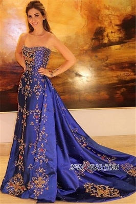 Gorgeous Sleeveless Applique Prom Gown | Strapless A-Line Long Prom Dress_2