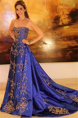 Gorgeous Sleeveless Applique Prom Gown | Strapless A-Line Long Prom Dress_3