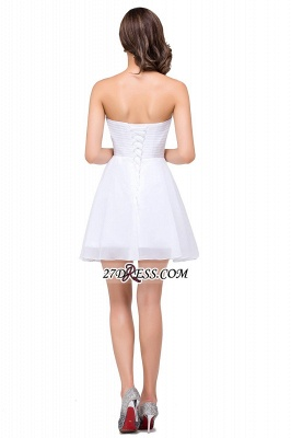 Short Sweetheart Chiffon White Elegant Crystal Homecoming Dress_3