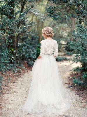 Gorgeous Hal-Sleeve Summer Lace Wedding Dress 2020 Tulle_3