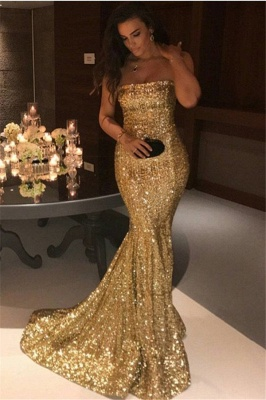 Gorgeous Strapless Mermaid 2020 Evening Dress Long On Sale_1