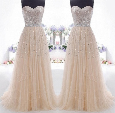 Luxurious Sweetheart Sleeveless Long Evening Dress With Beadings And Sequins_3