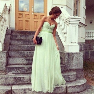 long elegant sweetheart prom gowns 2020 with chiffon_2