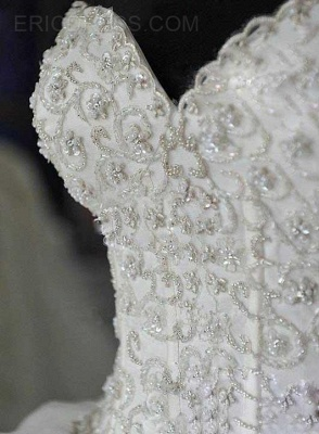 Gorgeous Ball Gown Beadings Wedding Dress 2020 Court Train Bowknot_4