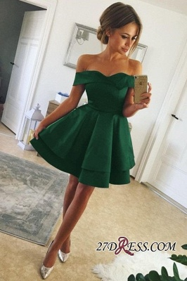 Off-the-shoulder Wonderful A-line Homecoming Dresses_2