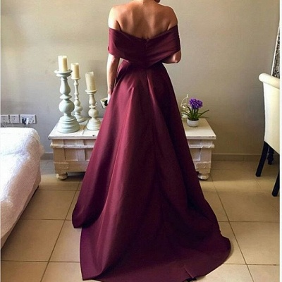 Elegant Burgundy Prom Dress 2020 Off-the-Shoulder Party Gowns BA7835_3