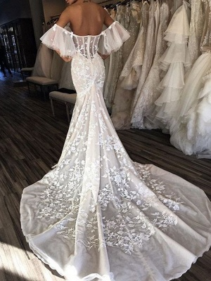 Glamorous Sweetheart 2020 Bridal Gowns   Lace Appliques Long Wedding Dresses_2