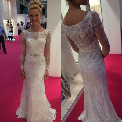 Long Sleeve Lace 2020 Wedding Dress | Mermaid Bridal Gowns On Sale_3