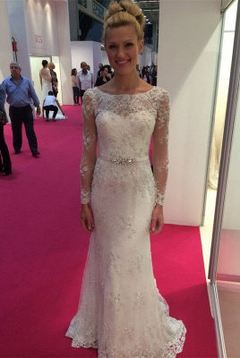 Long Sleeve Lace 2020 Wedding Dress | Mermaid Bridal Gowns On Sale_1