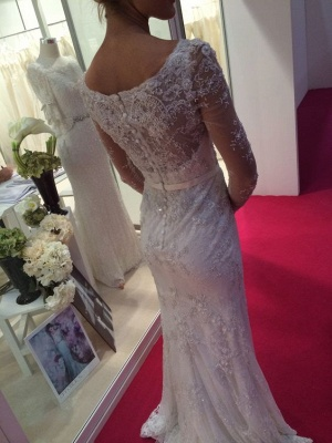 Long Sleeve Lace 2020 Wedding Dress | Mermaid Bridal Gowns On Sale_4
