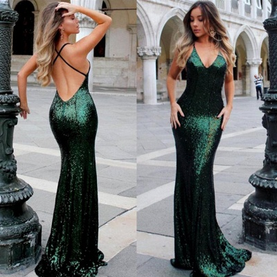 Sexy Green Sequined Bodycon Evening Dress | Long Formal Dress_3