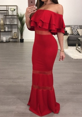 Sexy Off-the-Shoulder Evening Dress | 2020 Mermaid Long Prom Dresses_1