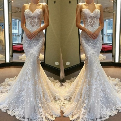 Gorgeous Sweetheart 2020 Wedding Dress | Lace Mermaid Bridal Gowns_3