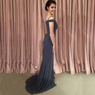 Off-the-shoulder mermaid prom dress, 2020 lace-up evening dress_5