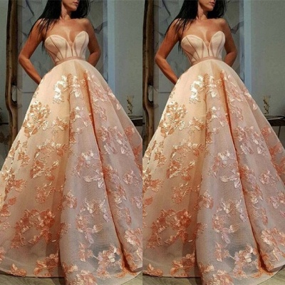 Stunning Sweetheart Appliques Evening Gowns   2020 Long Prom Dress On Sale_2