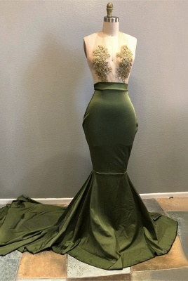 Halter Lace Appliques 2020 Prom Dress | Mermaid Evening Gowns RM0_1
