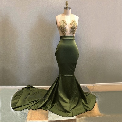 Halter Lace Appliques 2020 Prom Dress | Mermaid Evening Gowns RM0_3
