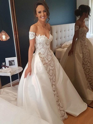 Gorgeous Sweetheart Lace Wedding Dress | Off-the-Shoulder 2020 Bridal Gowns On Sale_1