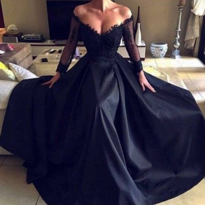 Gorgeous Long Sleeve Lace Evening Dress   2020 Long Formal Wears BC0136_4