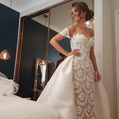 Gorgeous Sweetheart Lace Wedding Dress | Off-the-Shoulder 2020 Bridal Gowns On Sale_4
