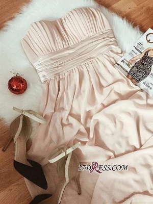 A-line Strapless Fascinating Belted Sweetheart Prom Dresses_4