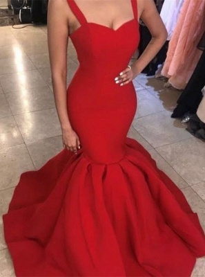 Elegant Sweetheart Red Evening Dress | 2020 Mermaid Long Formal Dress BA9493_1
