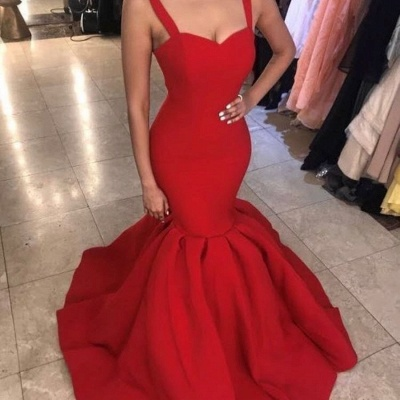 Elegant Sweetheart Red Evening Dress | 2020 Mermaid Long Formal Dress BA9493_4