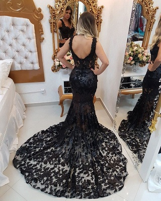 Sexy Black 2020 Evening Dresses | Mermaid Long Prom Gowns BC0464_2