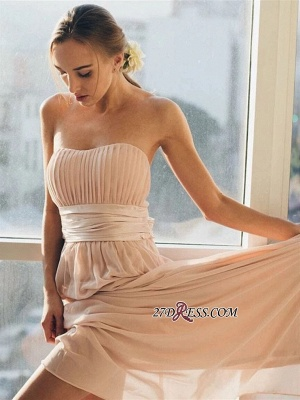 A-line Strapless Fascinating Belted Sweetheart Prom Dresses_3