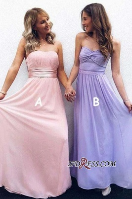 A-line Strapless Fascinating Belted Sweetheart Prom Dresses_1