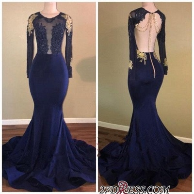 Long sleeve prom dress, 2020 mermaid evening gowns_2
