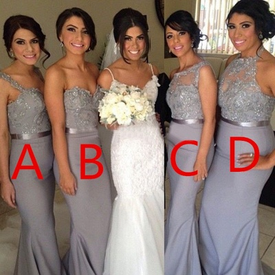 Different Styles Lace Appliques Mermaid Bridesmaid Dress 2020_3