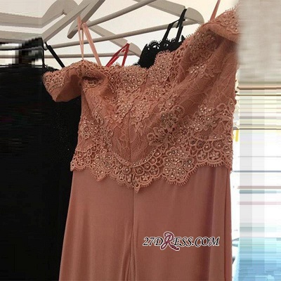 2020 Lace Beading Off-the-shoulder Pink Sexy Sheath Spandex Long Cheap Evening Dresses BA4148_2
