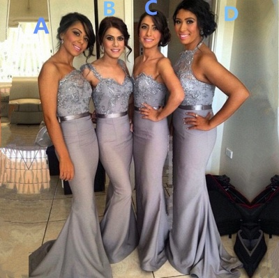 Different Styles Lace Appliques Mermaid Bridesmaid Dress 2020_2