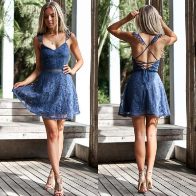 Lovely Sweetheart Lace Homecoming Dress | 2020 Mini Party Dress On Sale_5