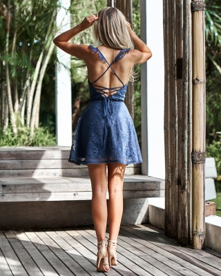 Lovely Sweetheart Lace Homecoming Dress | 2020 Mini Party Dress On Sale_4