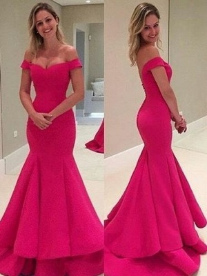 Sexy Off-the-Shoulder Prom Dress | 2020 Long Mermaid Evening Gowns_2