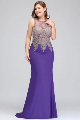 Elegant Sleeveless Mermaid Evening Dress | 2020 Prom Gown With Lace Appliques_5