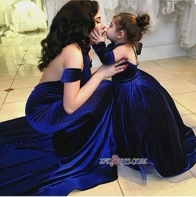 2020 Halter Court-Train Velvet Mermaid Open-Back Sexy Prom Dress qq0125_3