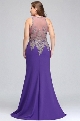 Elegant Sleeveless Mermaid Evening Dress | 2020 Prom Gown With Lace Appliques_7